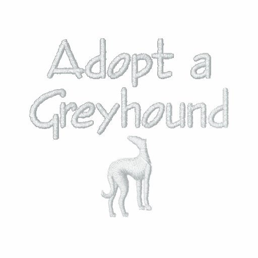 Adopt a Greyhound Embroidered Hoody