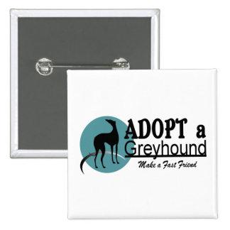 Adopt a Greyhound Logo 15 Cm Square Badge