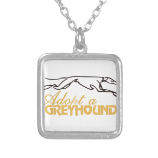 Adopt a Greyhound Square Pendant Necklace