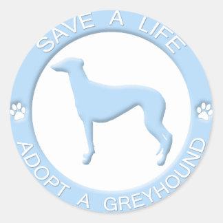 Adopt a Greyhound Stickers