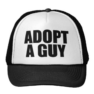 Adopt a guy trucker hat