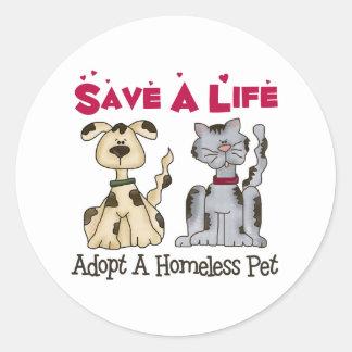 Adopt A Homeless Pet Stickers
