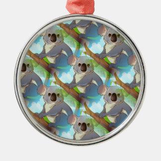 Adopt A Koala! Silver-Colored Round Decoration