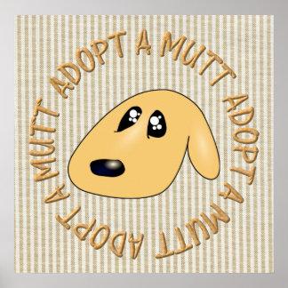 adopt a mutt print
