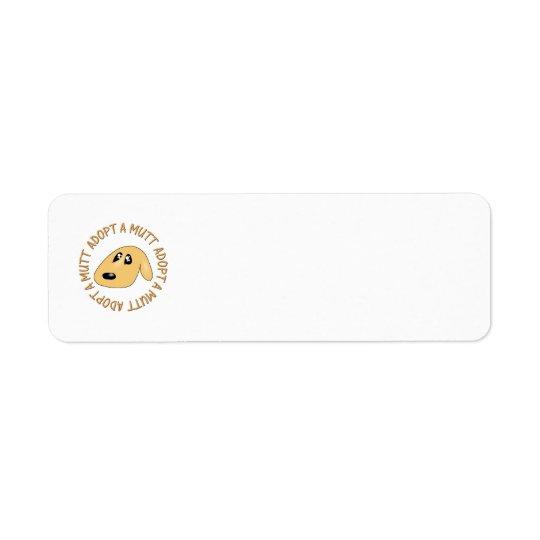 adopt a mutt return address label