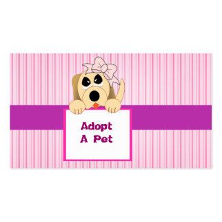 Adopt A Pet, Adorable Sign Pack Of Standard Business Cards