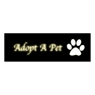 Adopt a Pet Bookmark Double-Sided Mini Business Cards (Pack Of 20)