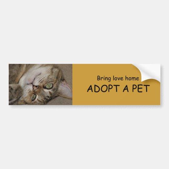 ADOPT A PET Bumper Sticker 1