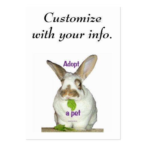 Adopt a pet business card template