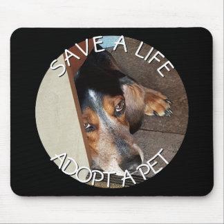 Adopt a Pet Photo Custom | Beagle Dog Rescue Mouse Mat