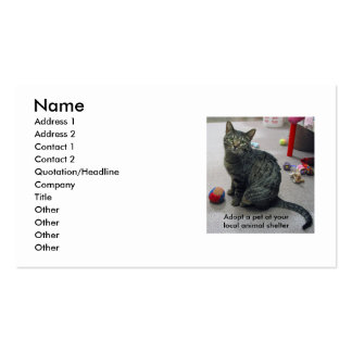 Adopt a Pet Profile Card Double-Sided Standard Business Cards (Pack Of 100)