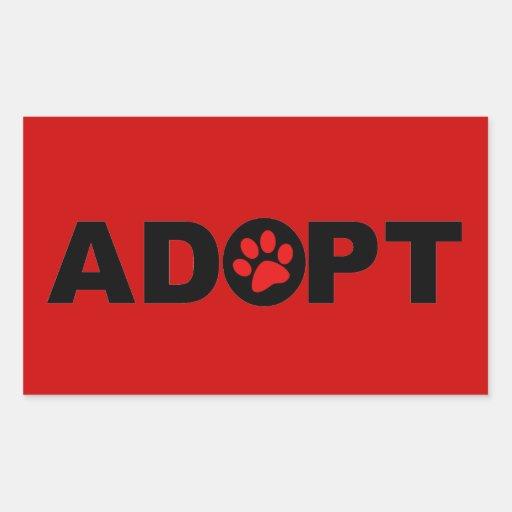 Adopt A Pet Rectangle Sticker