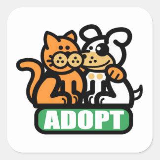 ADOPT A PET SQUARE STICKER