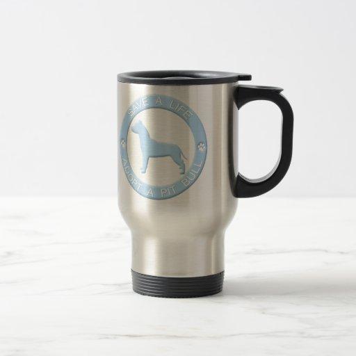 Adopt a Pit Bull Travel Mug