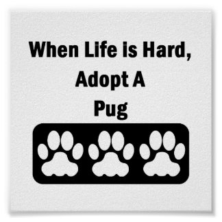 Adopt A Pug Poster