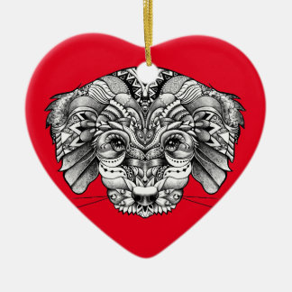 Adopt A Puppy Ceramic Heart Decoration