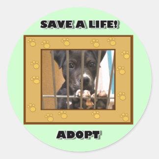 Adopt a puppy sticker