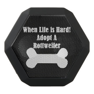 Adopt A Rottweiler Black Bluetooth Speaker