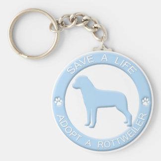 Adopt a Rottweiler Keychain