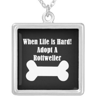 Adopt A Rottweiler Silver Plated Necklace