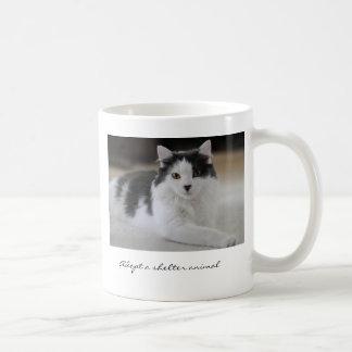 Adopt a shelter animal basic white mug