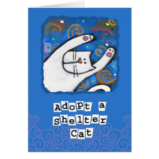 Adopt a Shelter Cat, Love a Cat Greeting Card