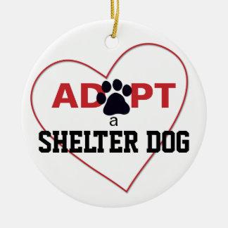 Adopt a Shelter Dog Christmas Ornament