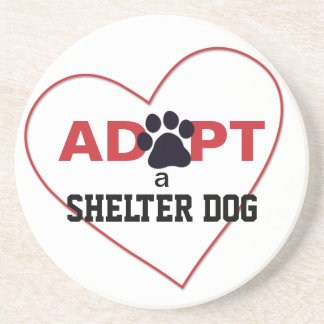 Adopt a Shelter Dog Drink Coaster