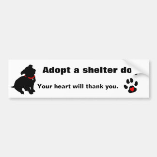 Adopt A Shelter Dog Design Bumper Sticker
