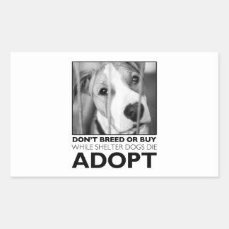 Adopt a Shelter Dog Rectangular Sticker