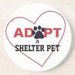 Adopt a Shelter Pet Beverage Coaster