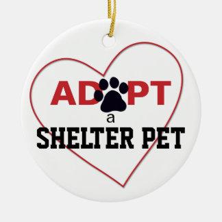 Adopt a Shelter Pet Round Ceramic Decoration