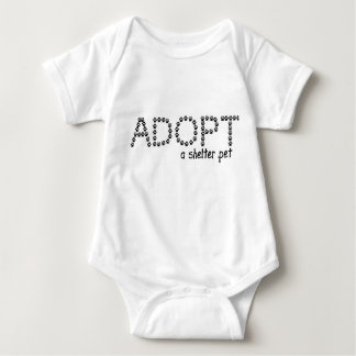 Adopt a Shelter Pet Paws Tshirt