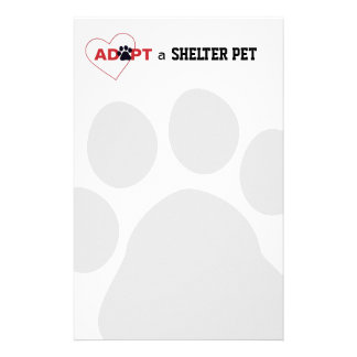 Adopt a Shelter Pet Customized Stationery
