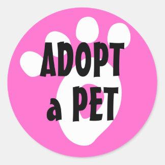 Adopt a Shelter Pet Round Sticker