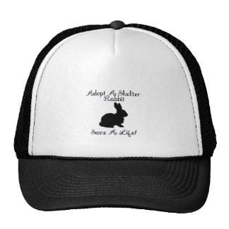 """Adopt A Shelter Rabbit, Save A Life!"" Hat"