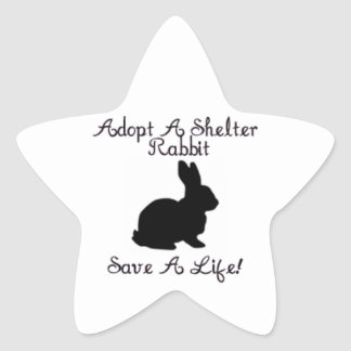 """""""Adopt A Shelter Rabbit, Save A Life!"""" Stickers"""