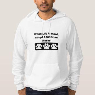 Adopt A Siberian Husky Hoodies