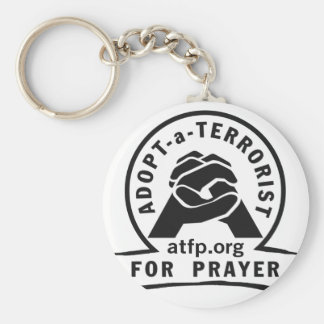 Adopt a Terrorist For Prayer Basic Round Button Key Ring
