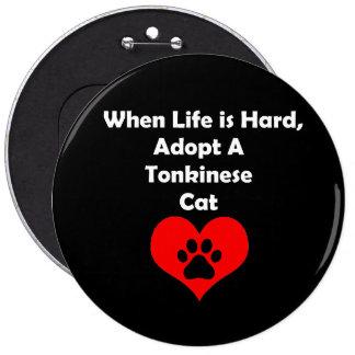 Adopt A Tonkinese Cat 6 Cm Round Badge