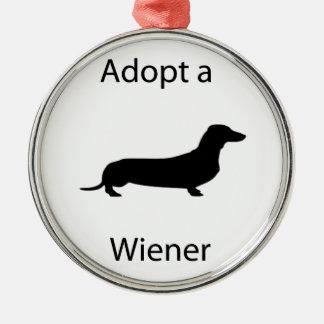 Adopt a wiener christmas ornament