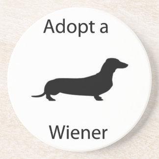 Adopt a wiener coaster