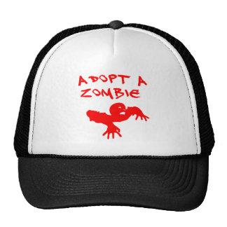 Adopt A Zombie T Shirt Cap