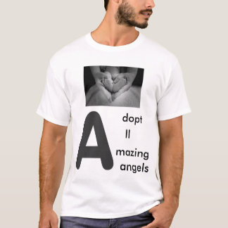 Adopt all amazing angels men t-shirt