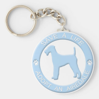 Adopt an Airedale Keychain