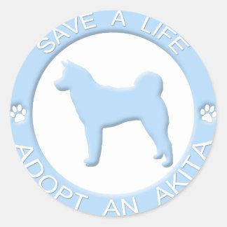 Adopt an Akita Stickers