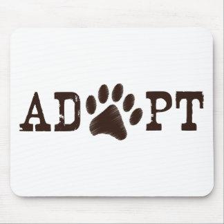Adopt an animal mouse pad