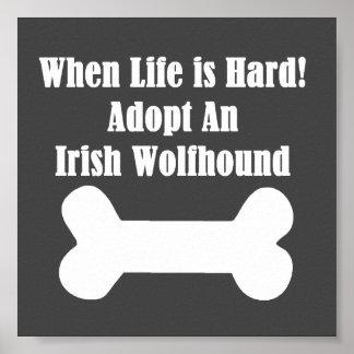Adopt An Irish Wolfhound Poster
