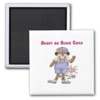 Adopt an Older Child Square Magnet