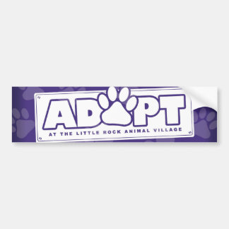 """Adopt at LRAV"" Bumper Sticker Car Bumper Sticker"